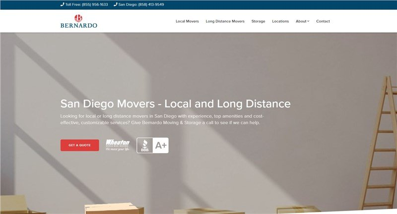 Bernardo Moving & Storage: Announcing Our New Address and Website!